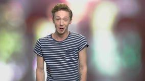 Πορτρέτο του φωνάζοντας εφήβου απόθεμα βίντεο