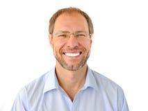 Πορτρέτο του χαμογελώντας ατόμου στοκ φωτογραφίες