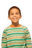 Πορτρέτο του χαμογελώντας μαύρου αγοριού Στοκ Εικόνες