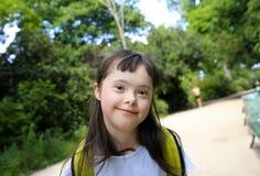 Πορτρέτο του χαμόγελου μικρών κοριτσιών Στοκ Εικόνα