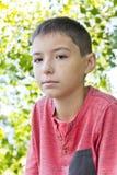 Πορτρέτο του χαριτωμένου αγοριού φακίδων Στοκ εικόνα με δικαίωμα ελεύθερης χρήσης