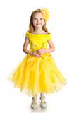 Πορτρέτο του χαριτωμένου μικρού κοριτσιού στο φόρεμα πριγκηπισσών Στοκ εικόνες με δικαίωμα ελεύθερης χρήσης