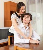 Πορτρέτο του χαρούμενου νέου ζεύγους Στοκ φωτογραφία με δικαίωμα ελεύθερης χρήσης