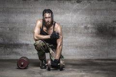 Πορτρέτο του όμορφου αθλητή Στοκ Εικόνα