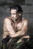 Πορτρέτο του όμορφου αθλητή Στοκ φωτογραφία με δικαίωμα ελεύθερης χρήσης