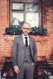 Πορτρέτο του όμορφου επιχειρηματία Στοκ Εικόνες