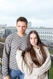 Πορτρέτο του όμορφου ζεύγους Στοκ εικόνες με δικαίωμα ελεύθερης χρήσης