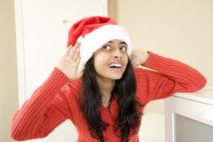 Πορτρέτο του όμορφου κοριτσιού Χριστουγέννων Στοκ Φωτογραφία