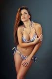 Πορτρέτο του όμορφου μοντέλου μόδας μπανιερών του Λατίνα στοκ φωτογραφίες