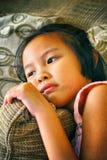 Πορτρέτο του όμορφου μοντέρνου νέου ασιατικού κοριτσιού Στοκ εικόνα με δικαίωμα ελεύθερης χρήσης