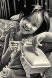 Πορτρέτο του όμορφου μοντέρνου νέου ασιατικού κοριτσιού Στοκ Εικόνα