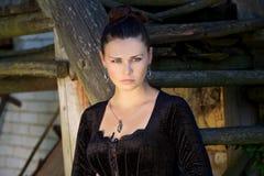 Πορτρέτο του όμορφου νέου κοριτσιού Στοκ Εικόνα