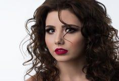 Πορτρέτο του όμορφου προτύπου γυναικών με το επαγγελματικό makeup Στοκ εικόνα με δικαίωμα ελεύθερης χρήσης