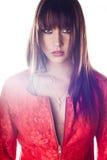 Πορτρέτο του όμορφου προτύπου γυναικών. Φωτογραφία μόδας Στοκ Εικόνες