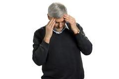 Πορτρέτο του ώριμου ατόμου σχετικά με το κεφάλι του στοκ εικόνα με δικαίωμα ελεύθερης χρήσης