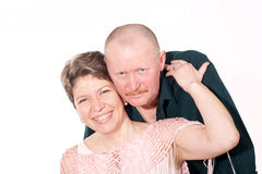 Πορτρέτο του ώριμου ενήλικου ζεύγους Στοκ φωτογραφία με δικαίωμα ελεύθερης χρήσης