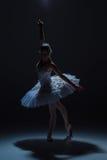 Πορτρέτο του ballerina στο tatu μπαλέτου στο dack Στοκ εικόνα με δικαίωμα ελεύθερης χρήσης