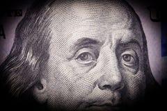 Πορτρέτο του Benjamin Franklin από εκατό Στοκ Εικόνες