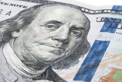Πορτρέτο του Benjamin Franklin σε έναν νέο λογαριασμό εκατό δολαρίων Στοκ εικόνα με δικαίωμα ελεύθερης χρήσης