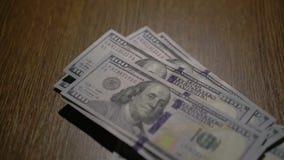 Πορτρέτο του Benjamin Franklin σε 100 αμερικανικό δολάριο 4K απόθεμα βίντεο