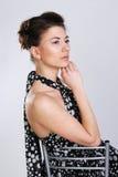 Πορτρέτο του brunette με τα καφετιά μάτια Στοκ Εικόνες