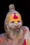Πορτρέτο του sadhu Shaiva, ιερό άτομο στο ναό Pashupatinath, Κατμαντού Νεπάλ Στοκ φωτογραφία με δικαίωμα ελεύθερης χρήσης