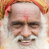Πορτρέτο του sadhu Shaiva, ιερό άτομο στο ναό Pashupatinath, Κατμαντού Νεπάλ Στοκ εικόνες με δικαίωμα ελεύθερης χρήσης