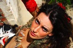 πορτρέτο τσιγγάνων χορευ Στοκ Εικόνες