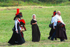 Πορτρέτο των ανθρώπων στα ιστορικά κοστούμια Στοκ Φωτογραφία