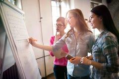 Πορτρέτο των αρχιτεκτόνων που συζητούν και που σύρουν εν πλω Στοκ Εικόνα
