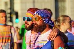 Πορτρέτο των ατόμων που συμμετέχουν στο χρώμα που οργανώνεται στην Τεργέστη, Ιταλία Στοκ Φωτογραφίες
