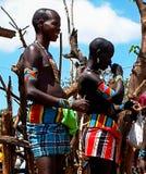 Πορτρέτο των ατόμων φυλών hamer, κοιλάδα Omo, Αιθιοπία Στοκ φωτογραφίες με δικαίωμα ελεύθερης χρήσης