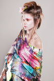 Πορτρέτο των ελκυστικών νέων γυναικών στο ασιατικό ύφος Στοκ φωτογραφία με δικαίωμα ελεύθερης χρήσης