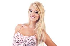 Πορτρέτο των θαυμάσιων ξανθών γυναικών Στοκ εικόνες με δικαίωμα ελεύθερης χρήσης