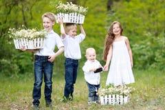 Πορτρέτο των μικρών παιδιών Στοκ Φωτογραφίες