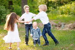 Πορτρέτο των μικρών παιδιών Στοκ Εικόνες