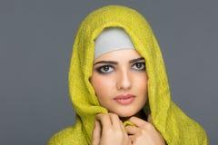 Πορτρέτο των μουσουλμανικών γυναικών στο hijab Στοκ φωτογραφίες με δικαίωμα ελεύθερης χρήσης