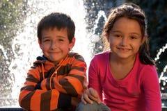 Πορτρέτο των χαμογελώντας παιδιών Στοκ εικόνα με δικαίωμα ελεύθερης χρήσης