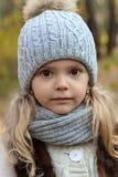 Πορτρέτο φθινοπώρου ενός μικρού κοριτσιού Στοκ φωτογραφία με δικαίωμα ελεύθερης χρήσης