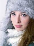 Πορτρέτο χειμερινής μόδας Στοκ εικόνες με δικαίωμα ελεύθερης χρήσης