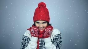 Πορτρέτο χειμερινών κοριτσιών φιλμ μικρού μήκους