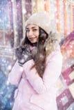 Πορτρέτο χειμερινών νεράιδων ενός νέου κοριτσιού Στοκ εικόνες με δικαίωμα ελεύθερης χρήσης