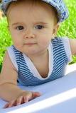 πορτρέτο χλόης μωρών Στοκ φωτογραφία με δικαίωμα ελεύθερης χρήσης