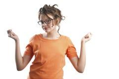 Πορτρέτο χορεύοντας του λίγο κοριτσιού Στοκ Εικόνες
