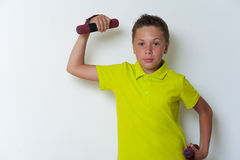 Πορτρέτο χρονών του ανυψωτικού αλτήρα αγοριών 12 Στοκ Εικόνα
