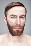 Πορτρέτο χρώματος ενός λυπημένου ατόμου Στοκ Φωτογραφία