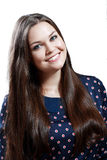 Πορτρέτο όμορφου συν το κορίτσι εφήβων μεγέθους Στοκ εικόνα με δικαίωμα ελεύθερης χρήσης