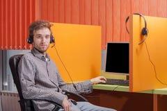 Πορτρέτο όλου του κεντρικού πράκτορα στην εργασία Στοκ φωτογραφίες με δικαίωμα ελεύθερης χρήσης