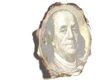 Πορτρέτο Benjamin Franklin καψίματος Στοκ Φωτογραφία