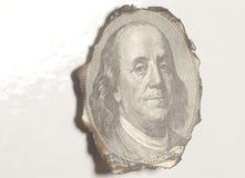 Πορτρέτο Benjamin Franklin καψίματος Στοκ Εικόνες